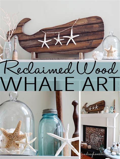 Beach Decor ? Reclaimed Wood Whale Art   Finding Home Farms
