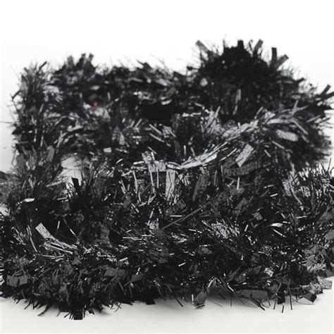 black tinsel garland 6 feet christmas and winter sale