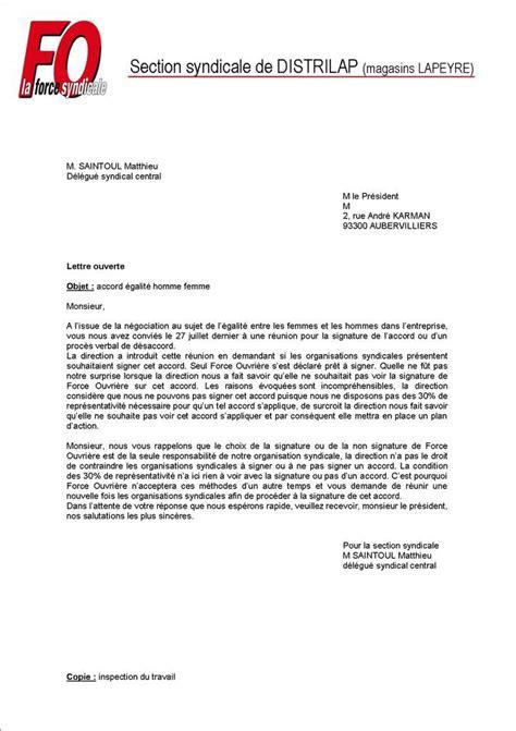 Exemple De Lettre Ouverte Litt Rature Image Modele Courrier Avec Pj