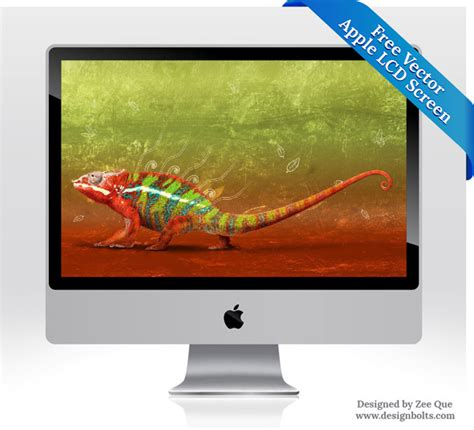 Monitor Lcd Apple apple lcd monitor screen free vector in adobe illustrator ai ai vector illustration graphic