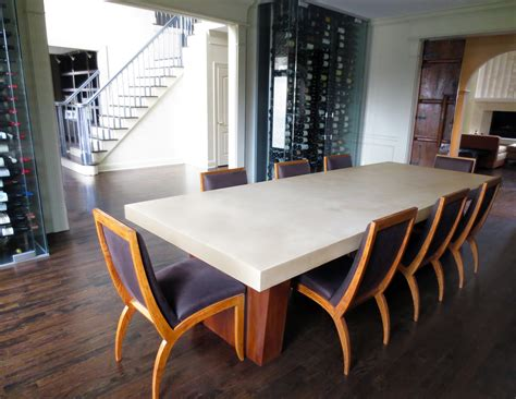 Concrete Dining Room Table Concrete Dining Table And Steel Table Base Trueform Decor
