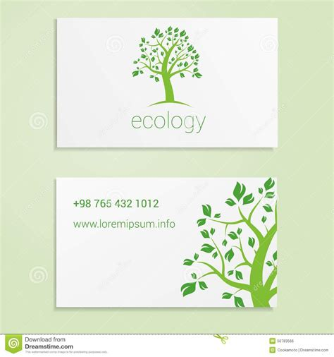 email business card templates ecological or eco energy company business card stock