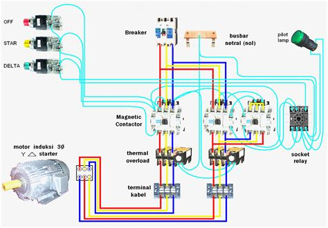 delta starter circuit diagram working circuit and