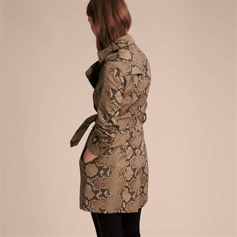 Cotton Trench Coat lyst burberry python print cotton trench coat in black