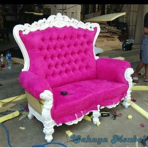 kursi sahrini jok pink duco putih cahaya mebel jepara