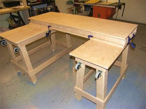 small woodworking bench plans torsion box work bench mobile and stowable for small