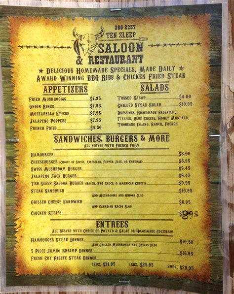 dead saloon menu ten sleep saloon menu front weighmyrack
