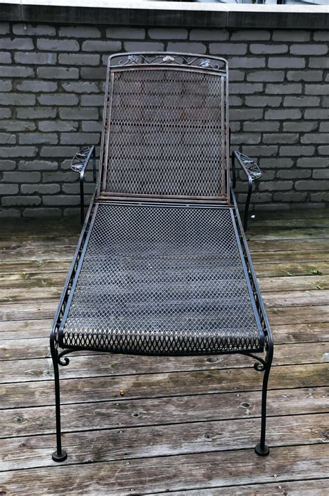 furniture incredible wrought iron chaise lounge