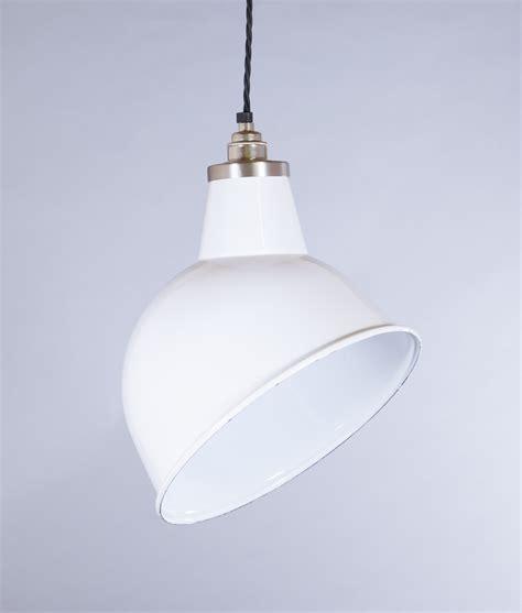 white pendant light shade large dual fitting pluto metal