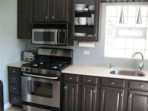 White Cabinets Black Countertops Gray Walls by This Gray Cabinets White Or Light Gray