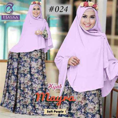 Gamis Hayya gamis cantik mayra 024 baju muslim pasmina instan
