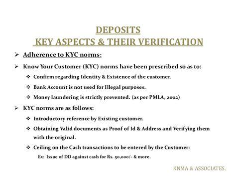 Kyc Verification Letter bank concurrent audit