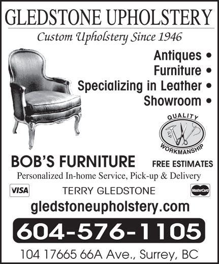 upholstery surrey bc gledstone custom upholstery opening hours 104 17665