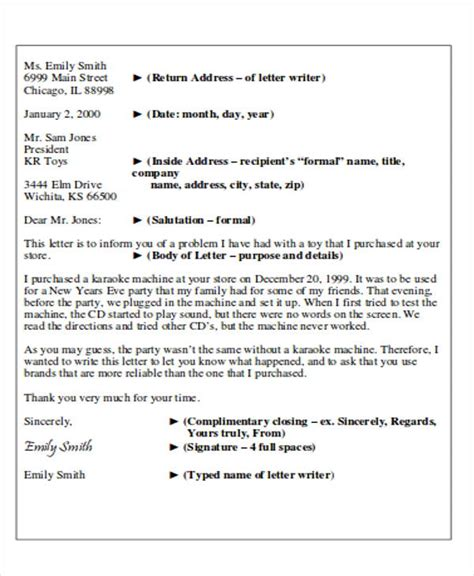 business letter layout word sle business letter layout 8 exles in word pdf