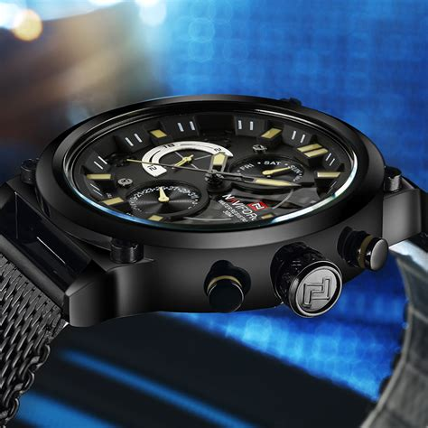 Jam Tangan Pria Nai21000g Black Yellow Original Garansi Resmi navi jam tangan analog pria 9068 black yellow jakartanotebook