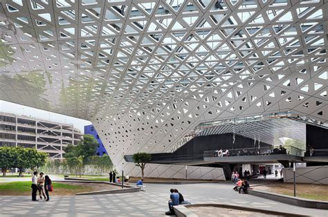 Designboom Rojkind | perforated roof connects cineteca nacional by rojkind