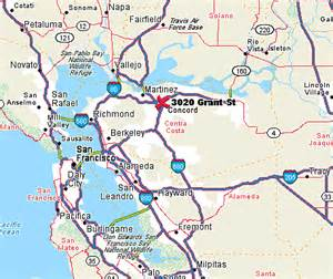 map of concord california driving directions to george miller center in concord