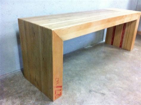 plywood bench 27 147 recycled plywood bench