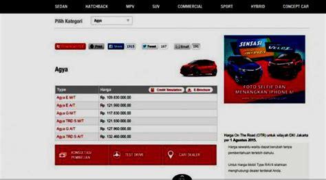Tv Mobil Khusus Agya daftar lengkap harga mobil murah ayla agya datsun