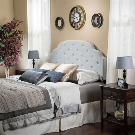 furniture light grey upholstered microfiber bedroom side bedroom furniture queen full grey fabric headboard w