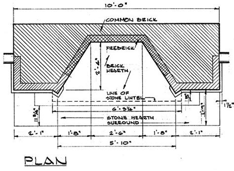 Fireplace Floor Plan by Fireplace Plan Drawing