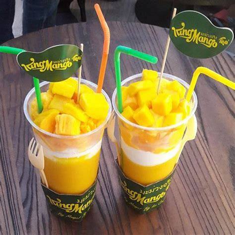 King Chaa Thai Minuman Kekinian Jus Teh Kekinian king mango thai