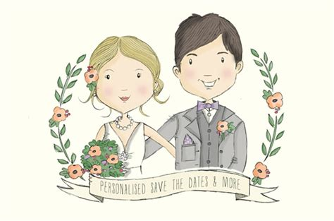 Wedding Illustration by Hello May 183 Save The Date