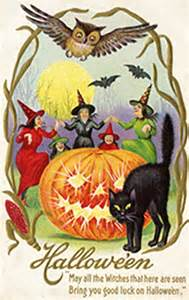 free printable vintage halloween postcards festival collections