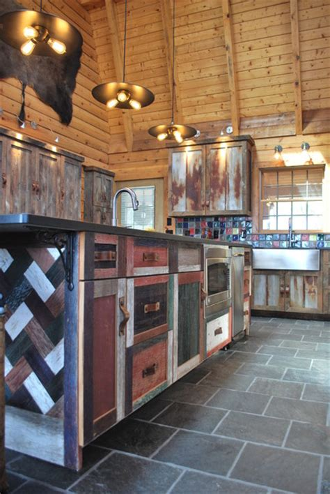 barnwood kitchen for log home barnwood kitchen for log home rustic kitchen other