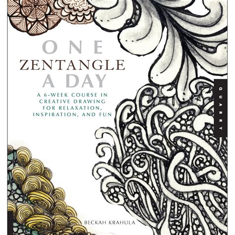 zentangle pattern meaning carpe librum review one zentangle a day a 6 week
