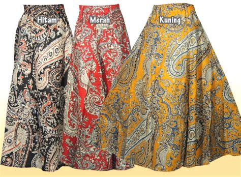 Jual Rok Muslimah Model Payung Rk6362 Baru jual rok muslimah batik model terbaru 4 klambi klambi