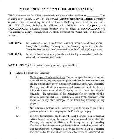 management consulting agreement template basic agreements 70 free documents in pdf word
