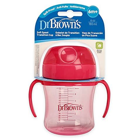 Dr Browns Soft Spout Toddler Cup 270ml Pink buy dr brown s 174 6 oz soft spout transition cup in pink from bed bath beyond