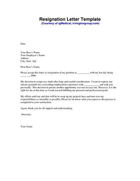 Executive Letter Template by Executive Business Resignation Letter Format Template
