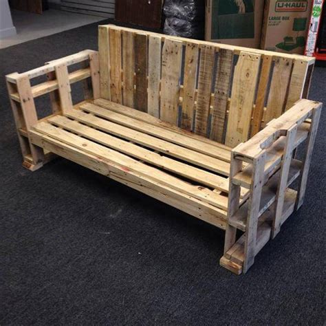 diy sofa bench diy sturdy handmade pallet bench sofa 101 pallets