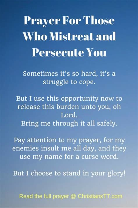 quot praying for those who prayer for those who mistreat and persecute you christianstt