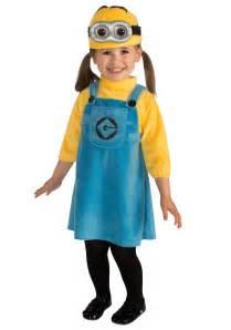 minion halloween costume for toddler toddler girls minion costume