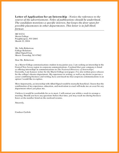 11 application of internship letter scholarship letter