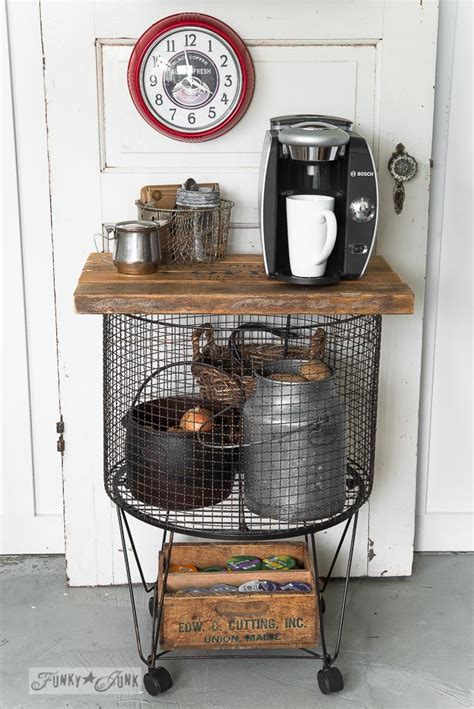 Funky Junk pick / vintage cart turned coffee stationFunky