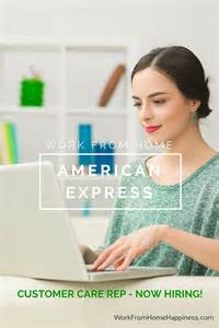 customer service from home american express customer service work from home