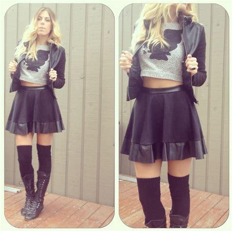 akward gazelle ardene leather trimmed skirt american
