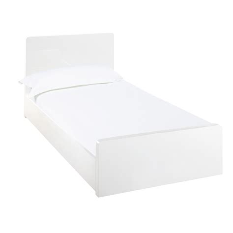 single headboards white notch bed single white dwell