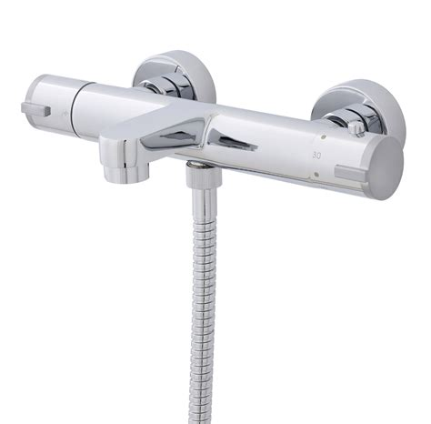 wall mounted bath shower mixer tap ultra wall mounted thermostatic bath shower mixer tap vbs021