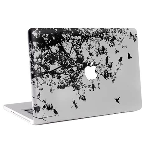 Sticker Laptop Sticker Macbook Sticker Apple Macbook Decal 13 floral and bird macbook skin decal