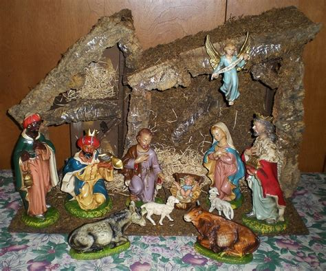 vintage nativity set nativity pinterest