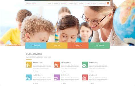 templates for website of school 15 best educational website templates free responsive