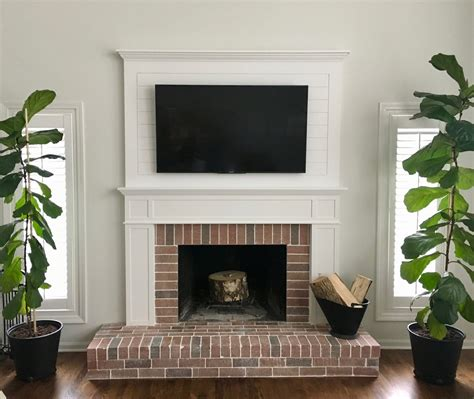 Farmhouse Fireplace by Amanda Rapp Design Farmhouse Fireplace Remodel