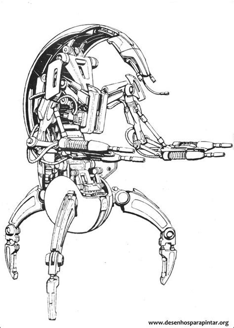 star wars droid coloring page free starwars battle droids coloring pages