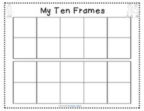 10 frame template printable 1000 images about ten frames on ten frames