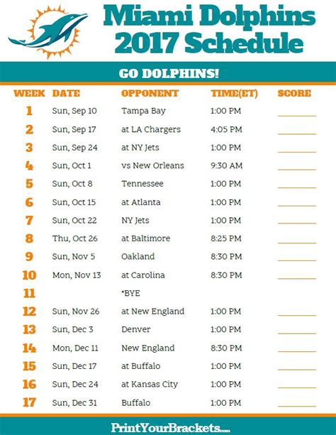 printable nfl team schedule 17 best images about printable nfl schedules on pinterest